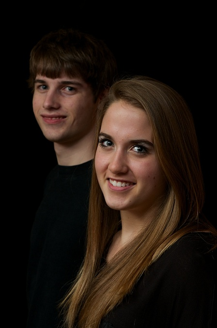 Siblings photographed at the Southview studio, 2012.