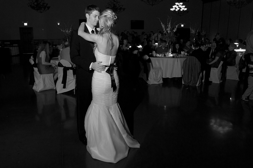 First dance at the wedding reception.