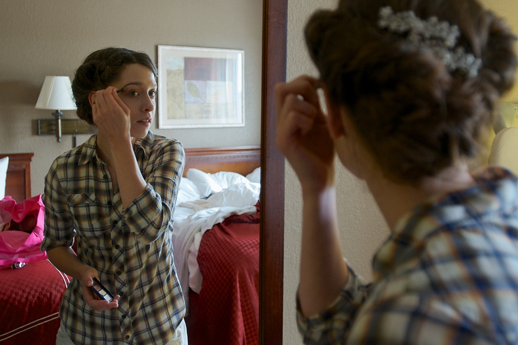 The bride prepares for her wedding day.
