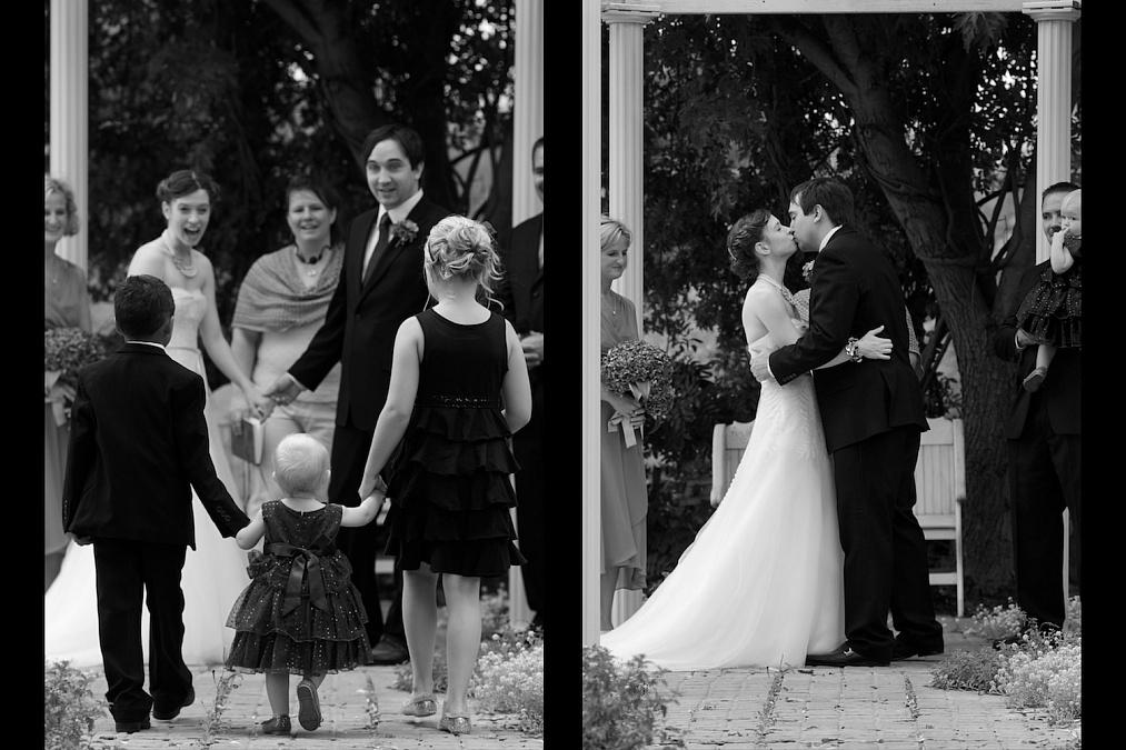 Candid wedding ceremony.