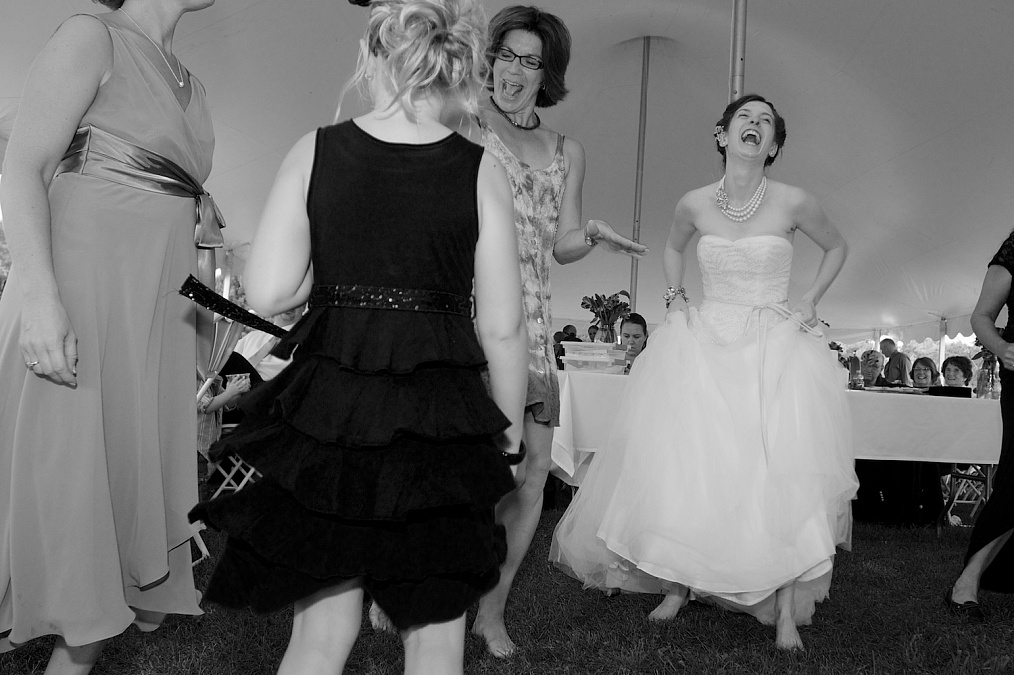 Dances and celebration documented during the reception at the Gazebo on the Green.